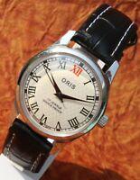 Luxury Vintage ORIS 17 Jewels FHF ST-96 HAND WINDING Roman Dial Mens Switzerland