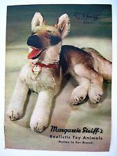 "Vintage ""Steiff Stuffed Animal"" Catalog w/ German Shepherd on Cover"