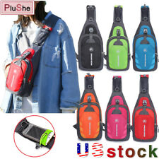 Outdoor Sling Backpack Chest Pack Cycling Sport Travel Crossbody Shoulder Bag US