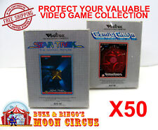 50x VECTREX CIB GAME - CLEAR PLASTIC PROTECTIVE BOX PROTECTOR SLEEVE CASE