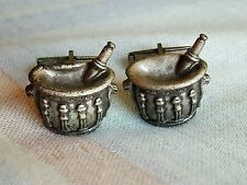 VINTAGE MERRELL MORTAR & PESTLE CUFFLINKS PHARMACIES~ APOTHECARY FREE SHIPPING!