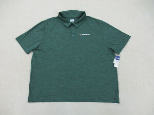 NEW Miami Hurricanes Polo Shirt Adult 3XL XXXL Green Orange UM Football Mens A34