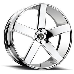 """Dub S115 Baller 22x8.5 5x4.5"""" +38mm Chrome Wheel Rim 22"""" Inch"""
