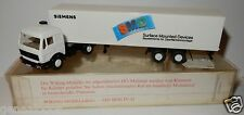 WIKING HO 1/87 CAMION MB MERCEDES 1644 SEMI REMORQUE SIEMENS SMD BLANCHE IN BOX