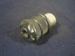 Antique Bakelite Bejamin-like 2-Piece Screw-in Electrical Plug Lamp Fan Repair