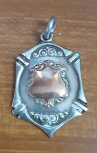 1947 Silver & Gold Watch Chain Fob - S. D. D. L. League Winners 1953 - 1954