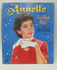 original 1960 ANNETTE FUNICELLO CUT-OUT DOLL paper dolls Book WHITMAN #1971