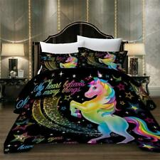 Magical Star Unicorn Kids Bedding Set Duvet Cover Comforter Cover Pillow Case 3D