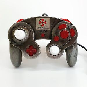 Distressed Resident Evil Umbrella Corp Design Hand Painted Gamecube Controller
