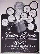 PUBLICITÉ 1930 LE BOTTIN MONDAIN 1930 A SA PLACE DANS LES FOYERS - ADVERTISING