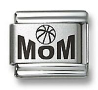 Laser Italian Charms Basketball MOM Fit 9 mm Stainless Steel Link Bracelets