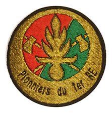 Ecusson/Patch souvenir Légion étrangère Pionniers du 1er RE -8,7cm- SUR SCRATCH