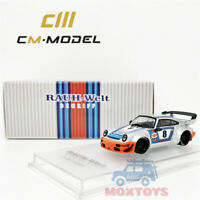 CM Model 1:64 Prosche RWB 964 Martini #8 Diecast Model Car
