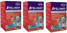 Feliway MULTICAT CAT Diffuser - SET OF (3) 30 Day Refills = 90 days *AUTHENTIC