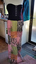 Ladies Womens Bodice Top + Attached Square Patterned Shirt Sz 10 S by Madam Rage