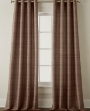 NEW Studio JCP Origins Textured Stripe Grommet Curtain Panel Hash Brown 50 x 84