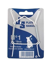 "Wire Plate Hangers No. 1 13-19CM 5"" - 7.5"" Wall Display Holder JES"