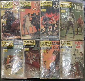 Lot Of 8 Vintage Classics Illustrated Comic Books Early 1960's