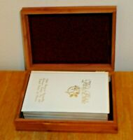 1991 The Holy Bible Our Treasured Memories w/ Wood Box Wooden Case Catholic Nice