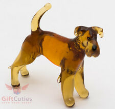 Art Blown Glass Figurine of the Irish Terrier dog