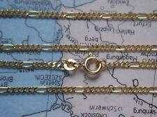 Goldarmband Figaroarmband 23 cm x 2 mm Gold 333, Herrenarmband Gold Länge 23 cm