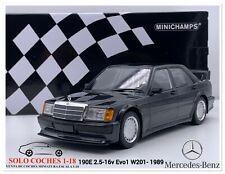 1:18 Mercedes Benz 190E 2.5-16v Evo1 W201 Azul Negro Metálico 1989 Minichamps