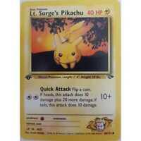 Pokemon Lt.Surge's Pikachu 1.Edition 84/132 - Gym Challenge -Englisch - Mint