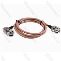 1.5 Meters RG142 BNC Male Right Angle to Male Straight Pigtail Coaxial Cable