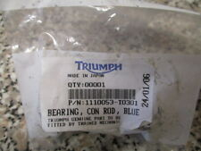 Triumph 1110053-t0301 Con Rod Bearing Shell Big End Blue