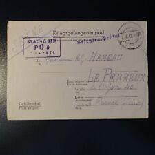 LETTRE PRISONNIER DE GUERRE STALAG II D 02.06.1942 KRIEGSGEFANGENENPOST POW