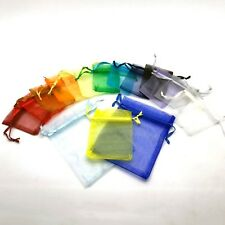 50 25 LUXURY Organza Gift Bags Jewellery Pouches Wedding Party Candy Favour