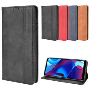 For Motorola Moto G PURE Case Shockproof Magnetic Leather Wallet Stand Cover