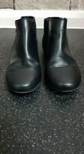 GIRLS MONSOON BLACK ANKLE BOOTS WITH METAL STARS ON SIZE 1