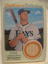 2017 Topps Heritage, Clubhouse Collection Relic Card, Card#CCR-EL, Evan Longoria