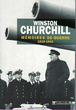 Winston Churchill : mémoires de guerre 1919-41 et 1941-45  2 tomes