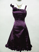 Cherlone Plus Size Clearance Purple Prom Party Cocktail Evening Dress UK 18-22