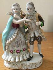 Antique Dresden  porcelain  figurine,people,old,excellent condition