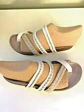 CIRCUS BY SAM E DELMAN WHITE STUDDED STRAPPY SANDALS SIZE 8/38 NWOT