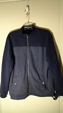 Banana Republic Blue, Full Zip, Soft Fleece Lined, Full Zip Jacket, Mens 2XL