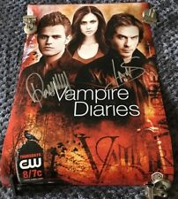 The Vampire Diaries Signed Autographed 11x17 Poster Paul Wesley Ian Somerhalder