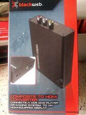New listing Blackweb Bwa17Av014 Composite/S-Video to Hdmi Converter Upscaler