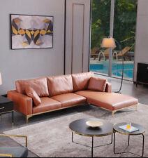 New Design Contemporary Lounge Chaise Sofa Top Grade Microfiber/PU Leather