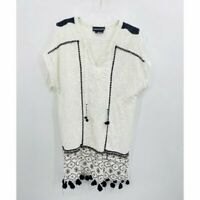 Anthropologie Hemant & Nandita Womens White Embroidered Eyelet Dress Size Small