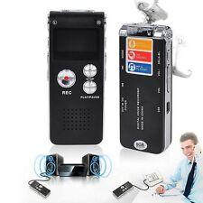 GRABADORA DE VOZ  8GB USB MP3 REPRODUCTOR DICTAFONO ESPIA CON AURICULARES