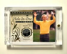 2021 Upper Deck Artifacts Jack Nicklaus Hole-In-One Remnants Laundry Tag /25