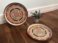 Oh so cool! Set of 2 70s Vintage Trays