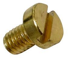 20 boulons vis tête cylindrique M4x6mm DIN84 laiton empreinte 1.2mm fente fendue