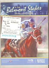 2004 BELMONT STAKES PROGRAM and $2 WIN TICKET TOTE SMARTY JONES