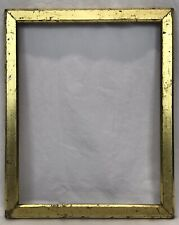 Antique Late 19th C Lemon Gold Gilt Frame 11 x 14 Opening