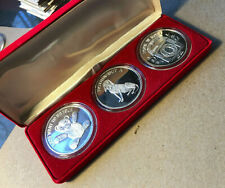 1935-1977 Elvis Presley 'A Great American' Lot of 3 1 Oz .999 Silver Round Set